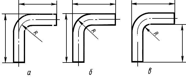Черт.2. Нанесение размеров трубы