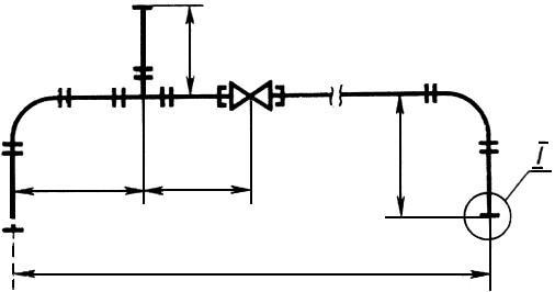 Черт.3. Условное изображение трубы (трубопровода) одной линией